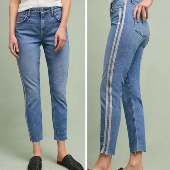 0c3ba492 Anthropologie Denim - Pilcro and the Letterpress Silver Side Seam Jeans